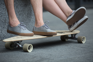 Füße-Longboard-L