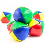 Concept for Multitasking Challenges, Group of Colorful Juggling Balls on White Background